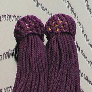 数珠用 頭付き房(人絹)古代紫 頭付き房