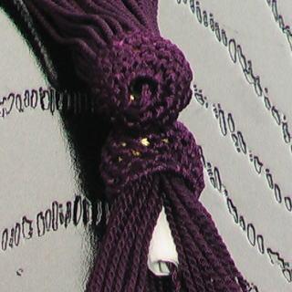 数珠用 頭付き房(人絹)古代紫 軸穴