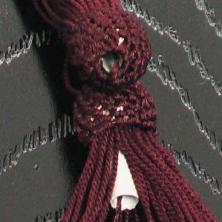 数珠用 頭付き房(人絹)赤紫 軸穴