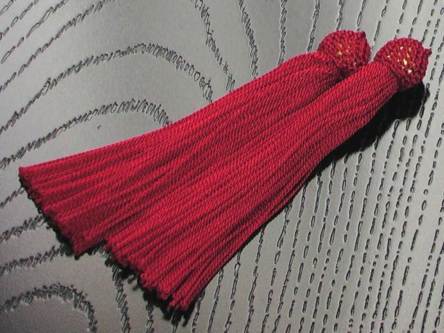 数珠用 頭付き房(人絹)赤