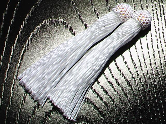 数珠用 頭付き房(人絹)白