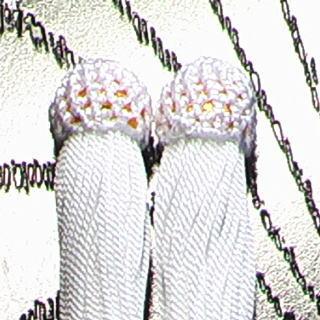 数珠用 頭付き房(人絹)白 頭付き房