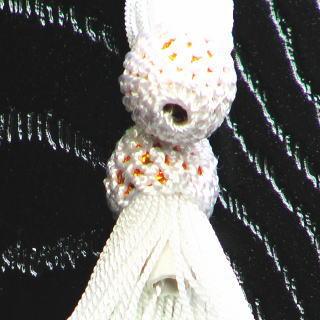 数珠用 頭付き房(人絹)白 軸穴