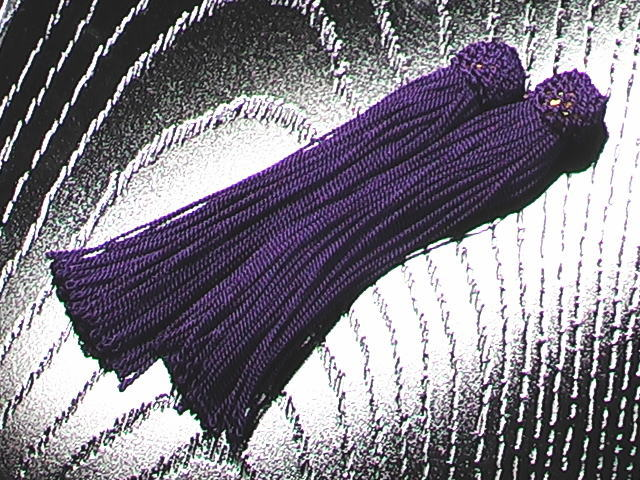 数珠用 頭付き房(人絹)古代紫 1組