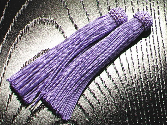 数珠用 頭付き房(人絹)藤