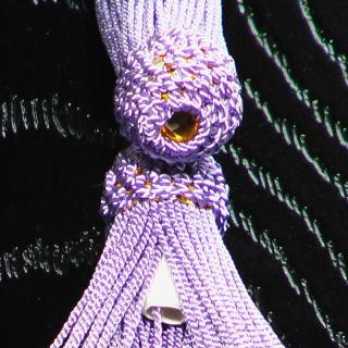 数珠用 頭付き房(人絹)藤 軸穴