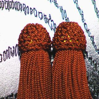 数珠用 頭付き房(人絹)茶 頭付き房