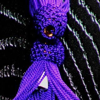 数珠用 頭付き房(人絹)紫 軸穴