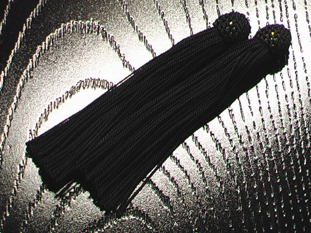 数珠用 頭付き房(人絹)黒
