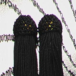 数珠用 頭付き房(人絹)黒 頭付き房