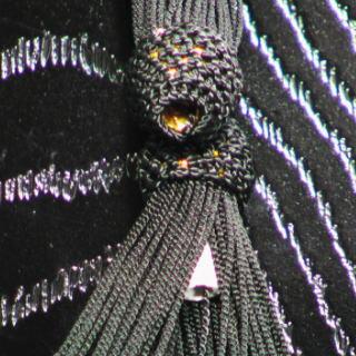 数珠用 頭付き房(人絹)黒 軸穴
