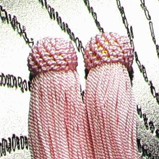 数珠用 頭付き房(人絹)桃 頭付き房