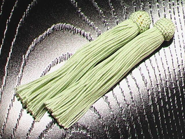 数珠用 頭付き房(人絹)青磁