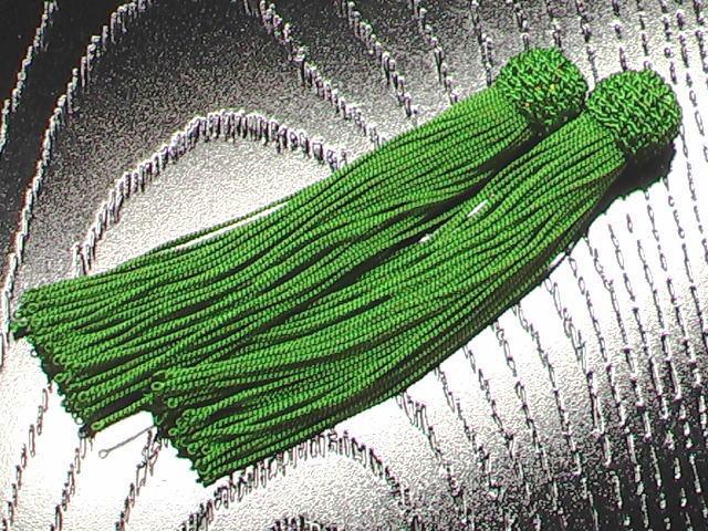 数珠用 頭付き房(人絹)柳 1組