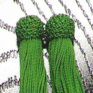 数珠用 頭付き房(人絹)柳 頭付き房