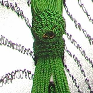 数珠用 頭付き房(人絹)柳 軸穴