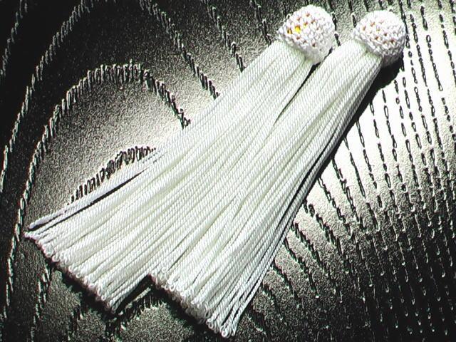 数珠用 頭付き房(正絹)白
