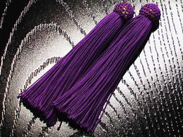 数珠用 頭付き房 古代紫