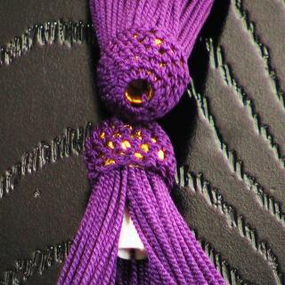 数珠用 頭付き房(正絹)古代紫 軸穴
