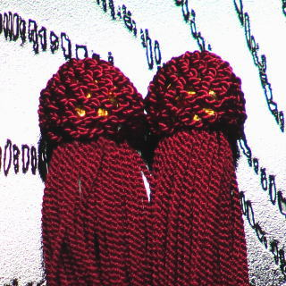 数珠用 頭付き房(正絹)赤紫 頭付き房