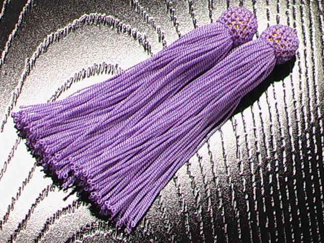 数珠用 頭付き房(正絹)藤