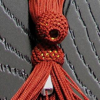 数珠用 頭付き房(正絹)茶 軸穴