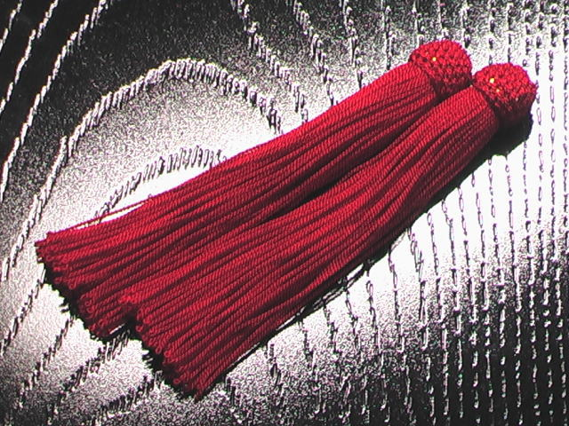 数珠用 頭付き房 赤