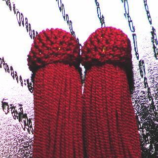 数珠用 頭付き房(正絹)赤 頭付き房