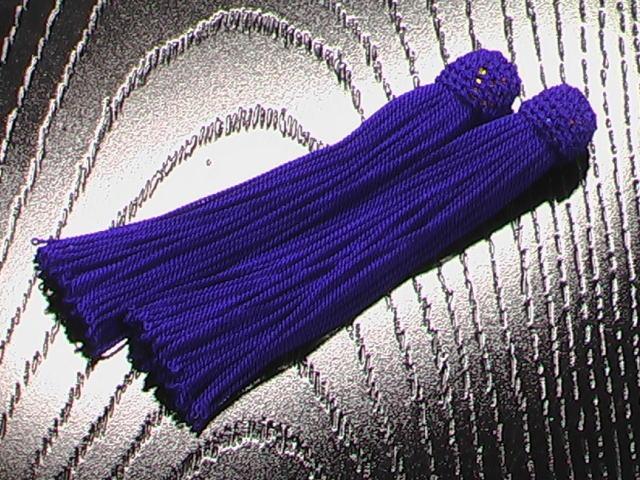 数珠用 頭付き房(正絹)紫
