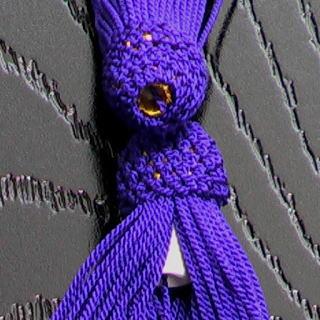 数珠用 頭付き房(正絹)紫 軸穴