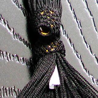 数珠用 頭付き房(正絹)黒 軸穴