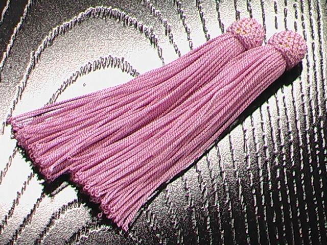 数珠用 頭付き房 桃