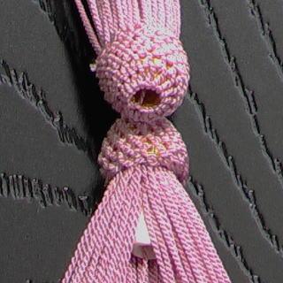 数珠用 頭付き房(正絹)桃 軸穴