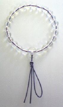 ブレスキット 数珠[念珠]ブレスタイプを使って作った数珠ブレスレット