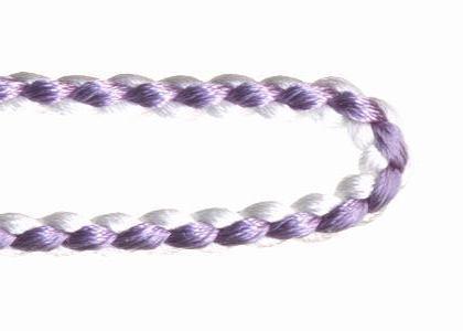 自分で作る数珠(片手念珠)キット 組紐タイプ 藤