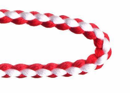 自分で作る数珠(片手念珠)キット 組紐タイプ 赤