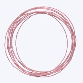 中糸:約0.8mmのナイロン製ビーズ用撚り糸 桃