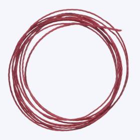 中糸:約0.8mmのナイロン製ビーズ用撚り糸 赤紫