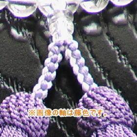 組紐を使った軸部分の仕上がり