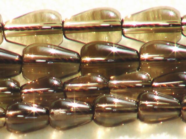 スモーキークォーツ(茶水晶)露玉 9mmと12mm